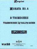 トロンボーン3重奏楽譜 3本のトロンボーンのためのソナタ第四番 作曲/ジョバンニ ペルゴレージ 【2012年11月取扱開始】