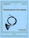 ホルン4重奏楽譜  ホルン四重奏のためのディベルティメント 作曲/河合和貴【2012年12月取扱開始】