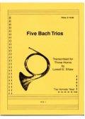 ホルン3重奏楽譜  ホルン三重奏のためのファイブバッハトリオ 作曲/JBバッハ 編集/ショー 【2012年12月取扱開始】