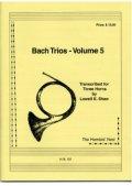ホルン3重奏楽譜 ホルン三重奏のためのバッハトリオVol5 作曲/JBバッハ 編集/ショー 【2012年12月取扱開始】