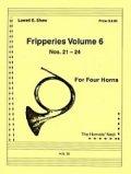 ホルン4重奏楽譜 ホルン四重奏のためのフリッパリーズVol.6 作曲/ロウェル・ショー【2012年12月取扱開始】