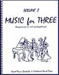 ミックス3重奏楽譜 Music for Three, Volume 3(Sacred Music, Spirituals & Traditional Jewish Music )