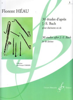 画像1: クラリネット教材 バッハによる30のエチュード 第1巻(30 Etudes d'apres J.S.Bach pour Volume 1) 作曲/エオ(Heau,F)【2020年5月6日入荷】