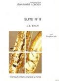 アルトサックスソロ楽譜 組曲第3番(Suite No.3) 作曲/バッハ(Bach.J.S) 編曲/Londeix