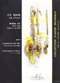 アルトサックスソロ楽譜 パルティータ第2番(Partita No.2 BWV.1004) 作曲/バッハ(Bach.J.S) 編曲/Vadrot
