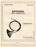 ホルン2重奏楽譜  ホルン二重奏のためのビッパリーズ (Vol 1) 作曲/ロウェル ショー 【2012年12月取扱開始】