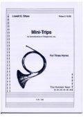 ホルン3重奏楽譜 ホルン三重奏のためのミニトリップス 作曲/ロウェル ショー 【2012年12月取扱開始】