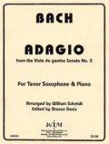 テナーサックスソロ楽譜 テナーサキソフォンとピアノのためのソナタ第三番よりアダージョ  作曲/ヨハン セバスチャン バッハ【2012年12月取扱開始】