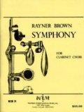 クラリネットクワイア楽譜 クラリネットクワイアのための交響曲  作曲/ライナー ブラウン【2012年12月取扱開始】