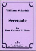 バスクラリネットソロ楽譜 バスクラリネットとピアノのためのセレナーデ 作曲/ウィリアム・シュミット【2012年12月取扱開始】