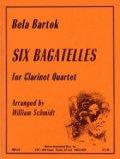 クラリネット4重奏楽譜 クラリネット四重奏のための6つのバガテル  作曲/ベラ バルトーク【2012年12月取扱開始】