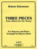 ファゴットソロ楽譜 バスーンとピアノのための子供のためのアルバムより 3つの小品 作曲/ロベルト シューマン【2012年12月取扱開始】