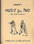 ミックス2重奏楽譜 Music for Two - Vol. 1 【Fl/Ob & Clarinet】