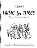 ミックス3重奏楽譜 Music for Three, Volume 1(Baroque, Classical & Romantic Favorites )
