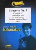 フリューゲルホルンソロ楽譜 ホルン協奏曲 第3番 変ホ長調K.447(Concerto Nr. 3 in Eb Major) 作曲/モーツァルト 校訂(編曲)/S.ナカリャコフ
