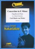 フリューゲルホルンソロ楽譜 ホルン協奏曲 作品45(Concertino in E Minor) 作曲/ウェーバー 校訂(編曲)/S.ナカリャコフ