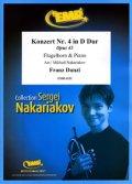 フリューゲルホルンソロ楽譜 フルート協奏曲 第4番 ニ短調 作品43(Konzert Nr. 4 in D Dur) 作曲/ダンツィ 校訂(編曲)/S.ナカリャコフ