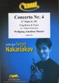 フリューゲルホルンソロ楽譜 ホルン協奏曲 第4番 変ホ長調K.495(Concerto Nr. 4 in Eb Major) 作曲/モーツァルト 校訂(編曲)/S.ナカリャコフ
