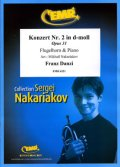 フリューゲルホルンソロ楽譜 フルート協奏曲 第2番 ニ短調 作品31 (Konzert Nr. 2 in d-moll) 作曲/ダンツィ 校訂(編曲)/S.ナカリャコフ