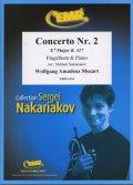 フリューゲルホルンソロ楽譜 ホルン協奏曲 第2番 変ホ長調K.417(Concerto Nr. 2 in Eb Major) 作曲/モーツァルト 校訂(編曲)/S.ナカリャコフ
