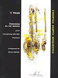 アルトサックス&ピアノ楽譜 シャコンヌ ト短調(Chaconne en sol mineur) 作曲/ヴィターリ(Vitali,T.) 編曲(監修)/Venturi