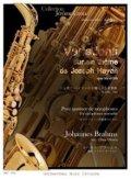 サックス4重奏楽譜 ハイドンの主題による変奏曲 作曲/B.ブラームス