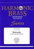 金管5重奏楽譜 舟歌(Barcarole) 作曲/オッフェンバック 編曲/Hans Zellner