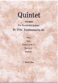 木管5重奏楽譜 木管五重奏曲 作曲/フリッツ カウフマン 【2013年3月取扱開始】