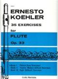 フルート教材 35の練習課題 作品33 第1巻(35 Exercises Op.33:I) 作曲/ケーラー.エルネスト(Kohler, Ernesto) 定番教本!!