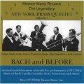 CD バッハ・アンド・ビフォー/Bach and Before/ニューヨーク・ブラス・クインテット【金管アンサンブル】