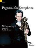アルト(ソプラノ)サックスソロ楽譜 サクソフォーンのためのパガニーニ 24Capricci op.1【Paganini for Saxophone】 作曲/ニコロ・パガニーニ 編曲/Raaf Hekkema