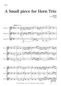 ホルン3重奏楽譜 A Small Piece for Horn Trio 作曲:田丸 和弥 【2013年8月取扱開始】