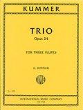 フルート3重奏楽譜 Trio,Op.24/3重奏曲 作品24 作曲/カスパール・クンマー【2014年8月取扱開始】