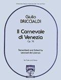 フルートソロ&ピアノ楽譜 ヴェニスの謝肉祭(II Carnivale di Venezia Op.78) 作曲/フブリッチャルディ(Briccialdi,G) 監修(編曲)/【2014年12月取扱開始】