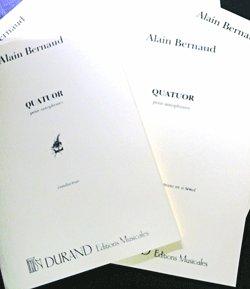 画像1: 【予約受付中】サックス4重奏楽譜 四重奏曲(Quatuor Pour Saxophones)【フルスコア&パート譜セット) 作曲/A,ベルノー(Alain Bernaud)【2019年11月上旬入荷予定。】
