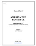 金管4重奏楽譜 America the Beautiful Brass Quartet (Trad./Villanueva) (By The Canadian Brass)