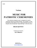 金管5重奏楽譜 Music for Patriotic Ceremonies for Brass Quintet (Various/Villanueva)【受注生産楽譜】 (By The Canadian Brass)【2016年7月取扱開始】