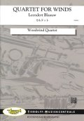 木管4重奏楽譜 カルテット 作曲:L.ブラオウ 【2017年8月取扱開始】