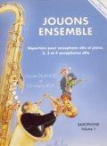 サックスソロ&ピアノ~4重奏楽譜 Jouons Ensemble Volume 1(C,ドゥラングル監修) 【2017年9月取扱開始】