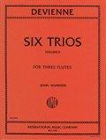 フルート3重奏楽譜 Six Trios,Vol.2/6つの3重奏曲 第2巻 作曲:Francois Devienne/フランソワ・ドゥヴィエンヌ 【2020年8月取扱開始】