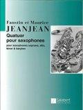 サックス4重奏楽譜 Quatuor pour Saxophones/サクソフォーン4重奏曲 作曲:Faustin Jeanjean/フォースティン・ジャンジャン  【2020年8月取扱開始】