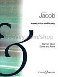 クラリネット7重奏楽譜 Introduction and Rondo/序奏とロンド 作曲:Gordon Jacob/ゴードン・ジェイコブ  【2020年8月取扱開始】