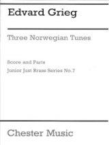 金管5重奏楽譜 Three Norwegian Tunes/3つのノルウェーの旋律 作曲 Edvard Grieg/エドヴァルド・グリーグ    【2020年8月取扱開始】