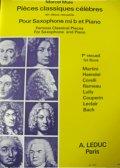 【在庫一掃セール】 アルトサックス&ピアノ楽譜 古典名曲集 第1巻 マルセルミュール監修 【2021年7月23日登録】