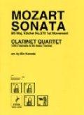 クラリネット四重奏楽譜 SONATA 2楽章 作曲/モーツアルト 編曲/兼田敏